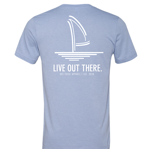 Live Out There Heather Blue Tee