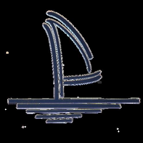Sailboat Logo Vinyl Decal - Navy