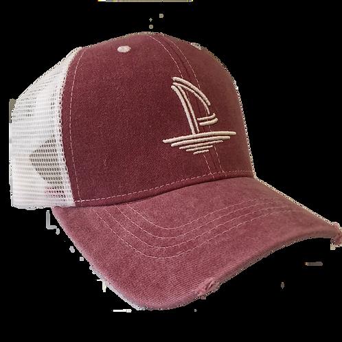 Weathered Trucker Hat - Crimson