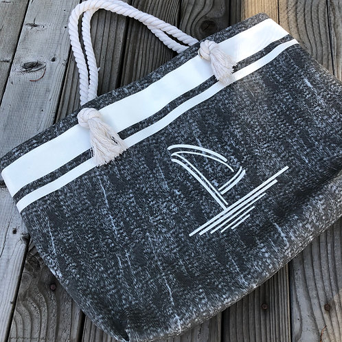 Charcoal Grey Canvas Tote