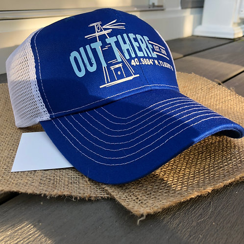 """""""Out There"""" Trucker Hat - Lighthouse Blue"""