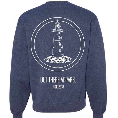 Heather Navy Lighthouse Crewneck