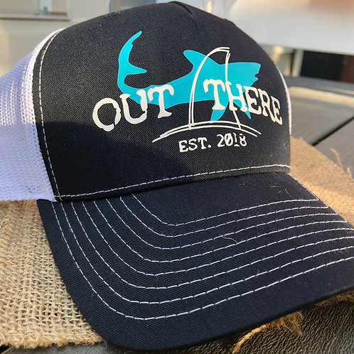 """""""Out There"""" Trucker Hat - Blue Shark"""