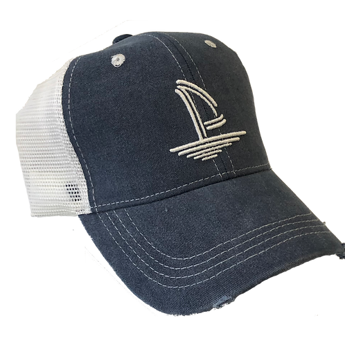 Weathered Trucker Hat - Washed Blue