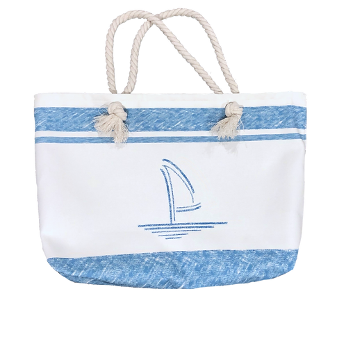 Blue Ocean Canvas Tote