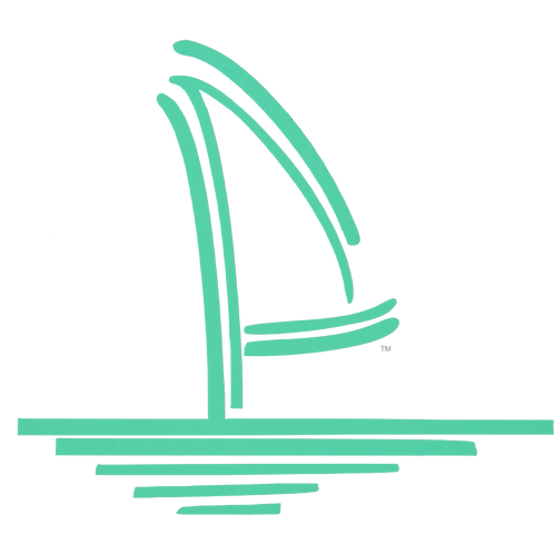 Sailboat Logo Vinyl Decal - Sea Green