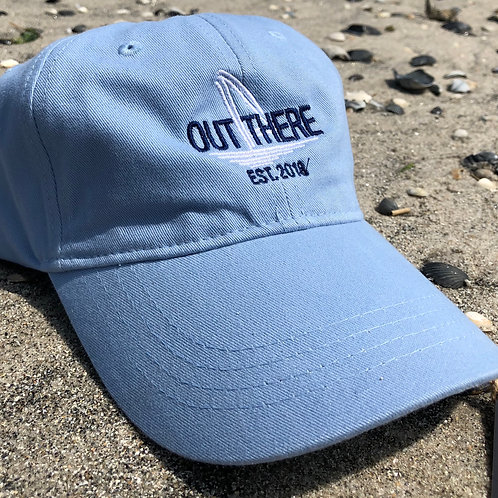Out There Embroidered Hat - Blue