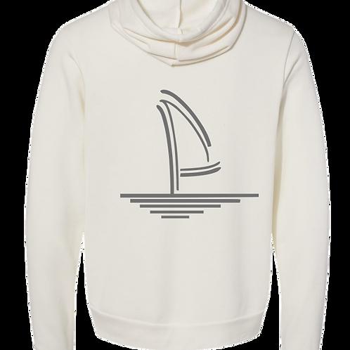 Sailboat Ivory White Hoodie