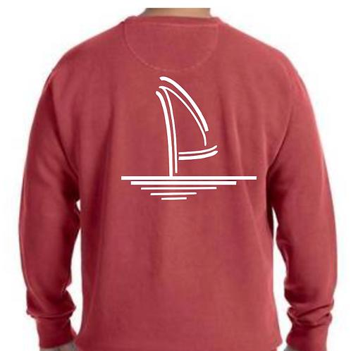 Washed Crimson Crewneck Sweatshirt