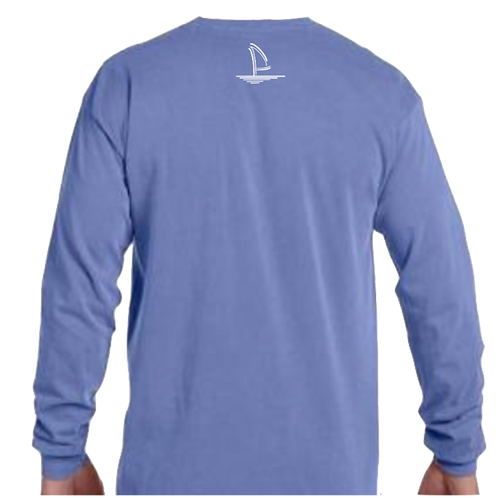 Sailboat Long Sleeve -  Indigo Blue