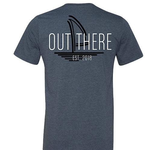 Out There Est. 2018 Heather Navy Tee