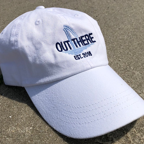 Out There Embroidered Hat -White