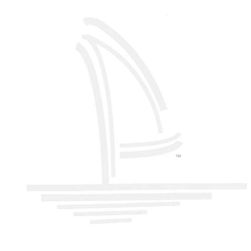 Sailboat Logo Vinyl Decal - White