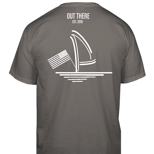 Sail and Flag Classic T-Shirt - Charcoal
