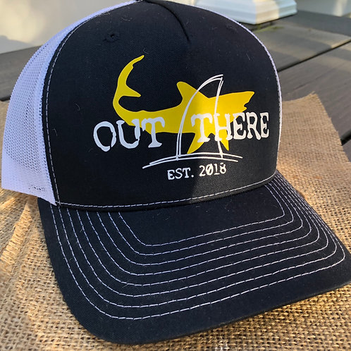 """Out There"" Trucker Hat - Yellow Shark"