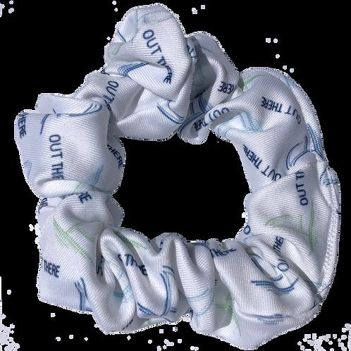 White, Green, & Blue Scrunchie