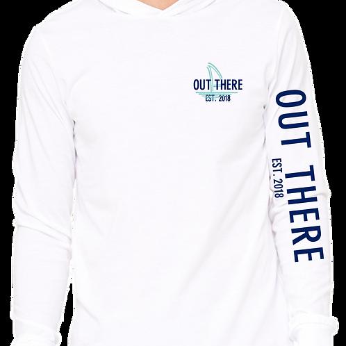 Teal & Navy Beach Hoodie - White