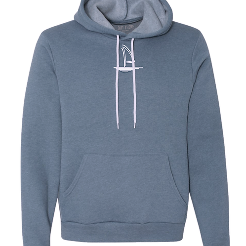 Blue Slate Sailboat Heather Hoodie