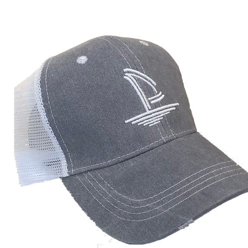 Weathered Trucker Hat - Pale Grey