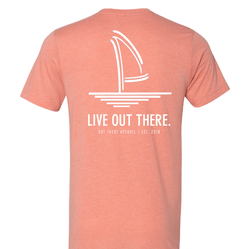 Live Out There Sunset Heather Tee