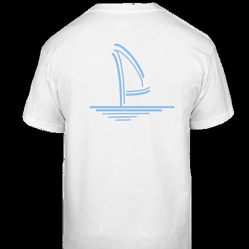 Pale Blue Sailboat Classic T-Shirt