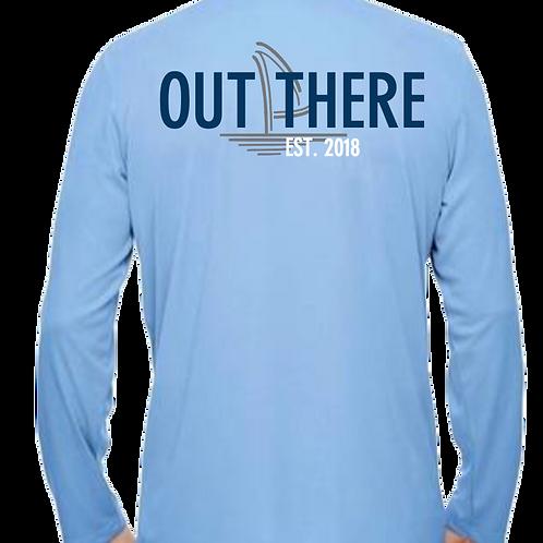 Light Blue & Navy Dri-Fit Performance Shirt