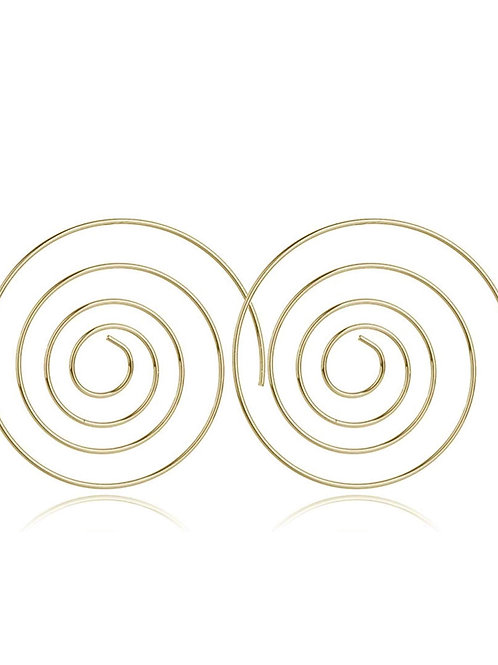 Spiral Earrings Gold