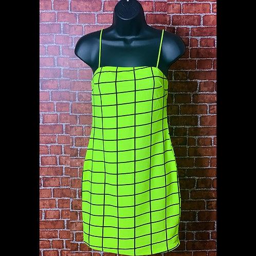 Highlighter Green Grid Dreas