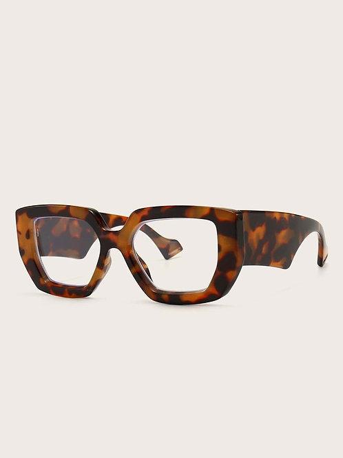 Tortoiseshell Clear Frame Glasses