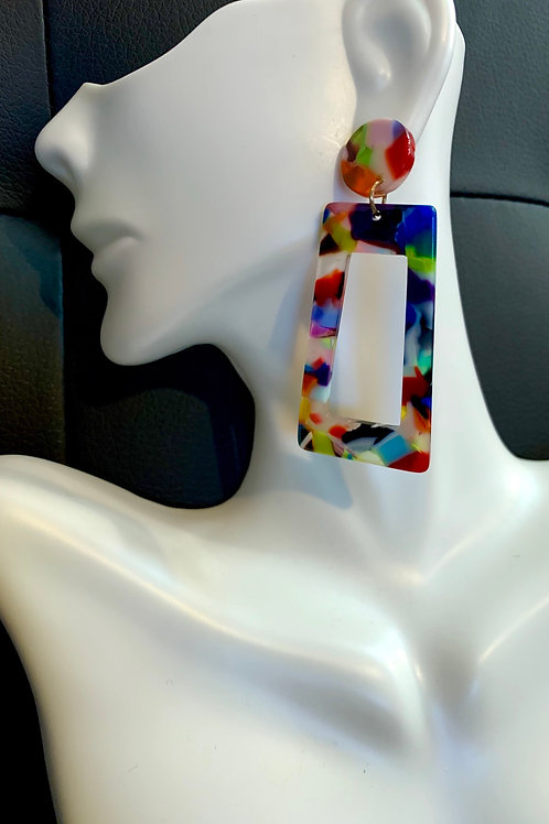 Multi-Colored Drop Earrings