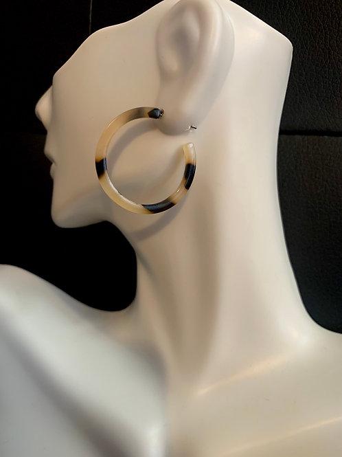 Small Tortoise Hoop Earrings