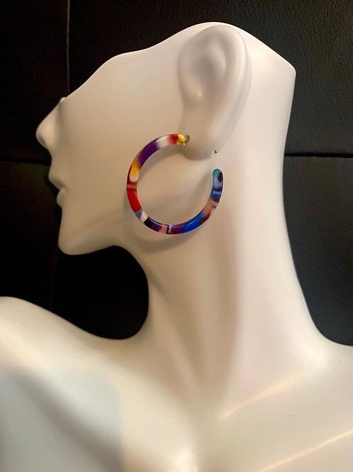Small Multi-Colored Hoop Earrings