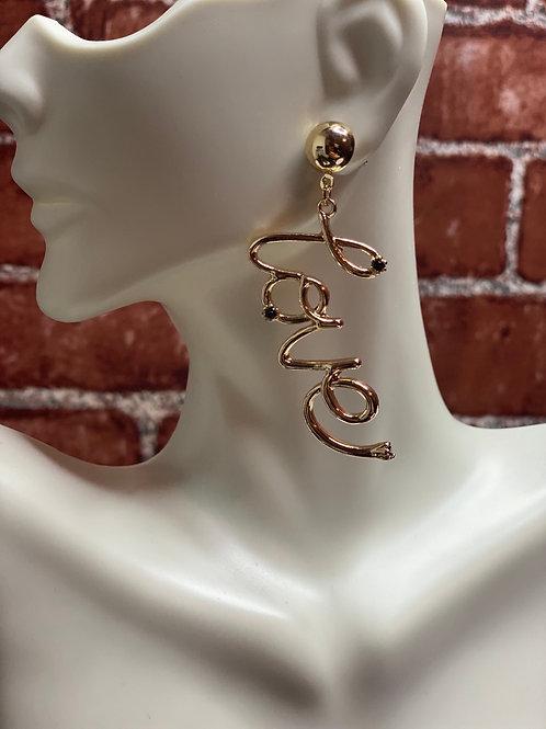 Love Gold Drop Earrings