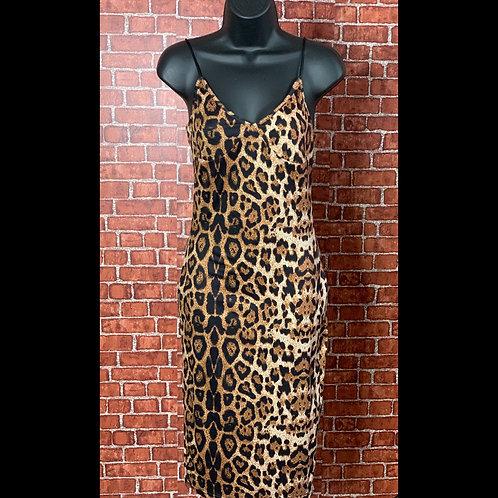 Leopard Print Bodycon Midi Dress