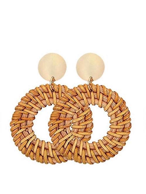 Hand Woven Circle Earrings