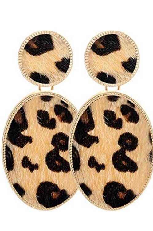 Leopard Textured Earrings