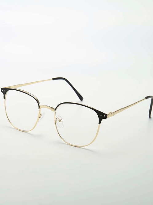 Unisex Gold Frame Glasses