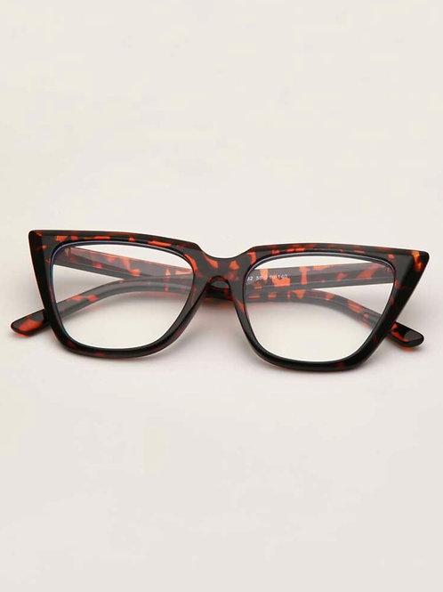 Cat Eye Tortoiseshell Clear Frame Glasses