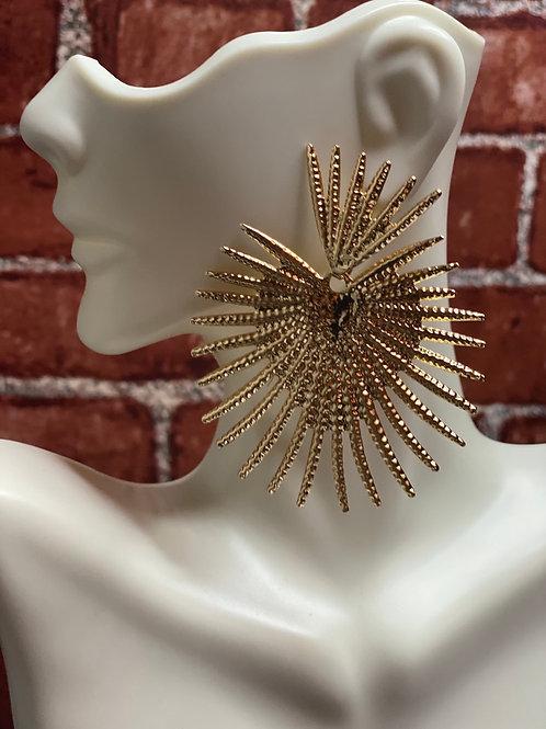Metallic Drop Earrings