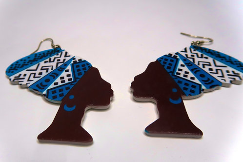 Artistic African Woman Earrings