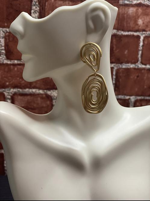 Line Twist Drop Earrings