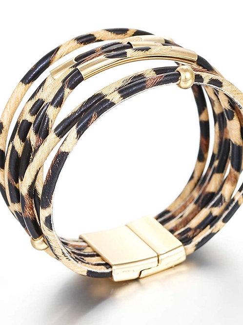 Animal Print Clamp Bracelet