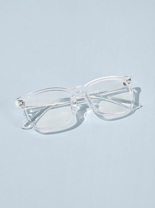 Unisex Transparent Frame Glasses