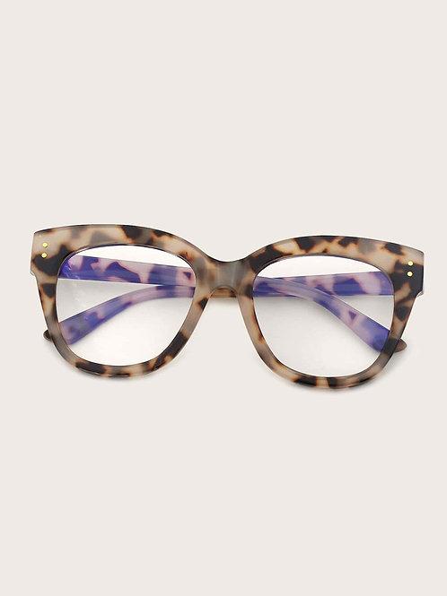 Rivet Decor Tortoiseshell Frame Glasses