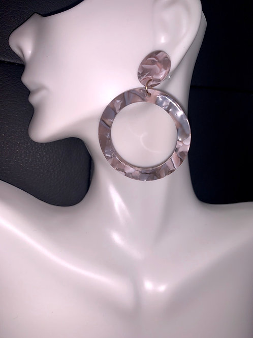 Grey Acrylic Drop Earrings
