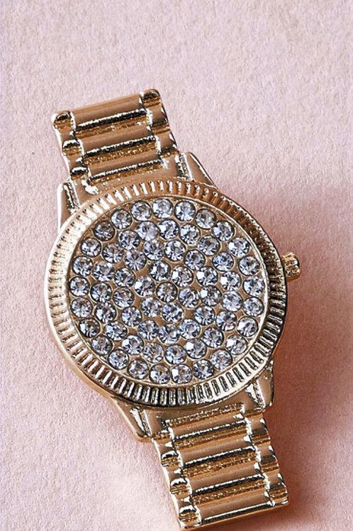 Rhinestone Watch Earrings