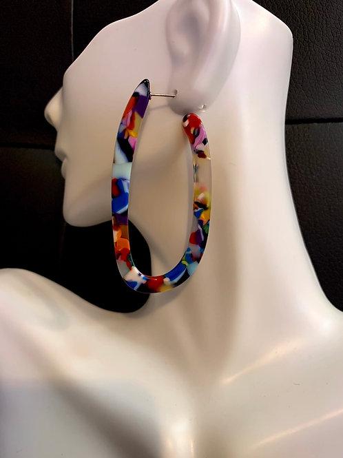 U Shaped Multi-Colored Earrings