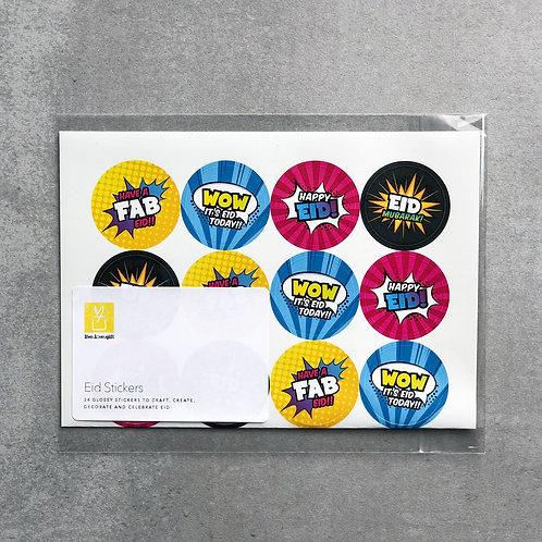 'Super Muslims' Eid Stickers