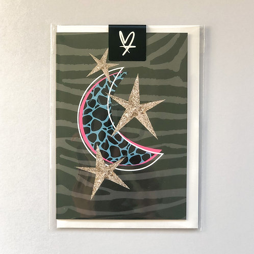 Moon & Stars Greeting Card