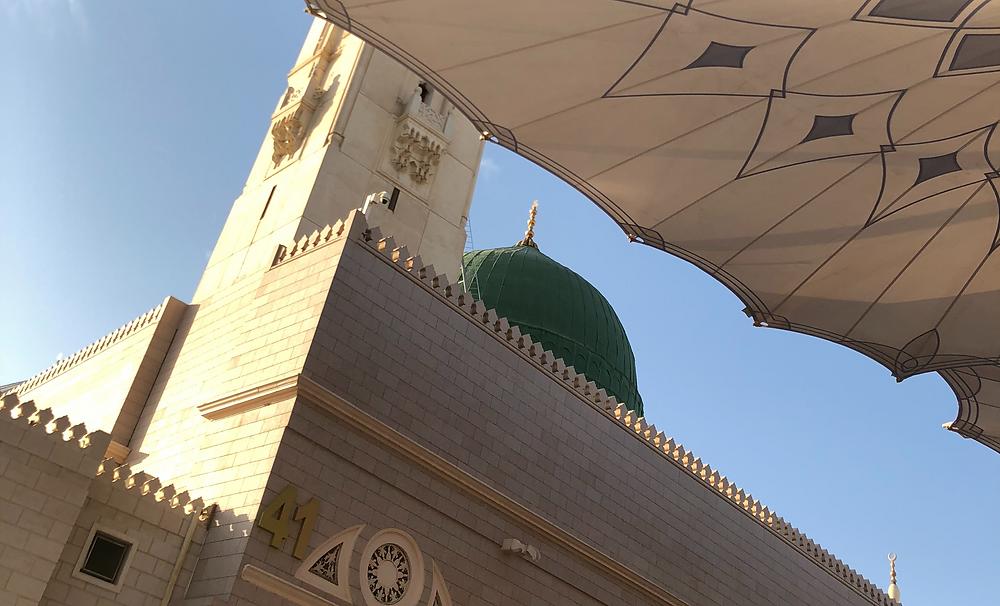 green dome at Masjid an Nabawi